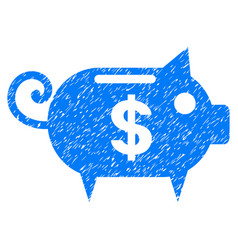 Piggy bank grunge icon vector