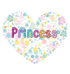 Princess greeting card vector
