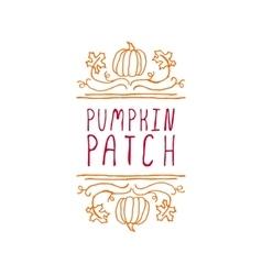 Pumpkin patch - typographic element vector