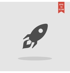 Rocket icon Flat design style vector image vector image