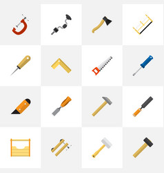 Set of 16 editable apparatus flat icons includes vector
