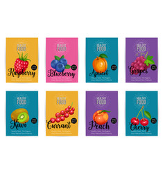 set of banners with fruits vector image vector image