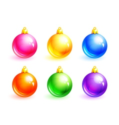 set of christmas balls eps10 vector image vector image