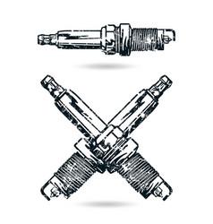 spark-plug vector image