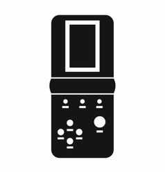 Tetris icon in simple style vector