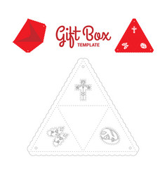 triangle gift box vector image