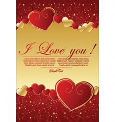 Valentine's greeting background vector image vector image