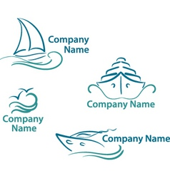 Yachting logo vector