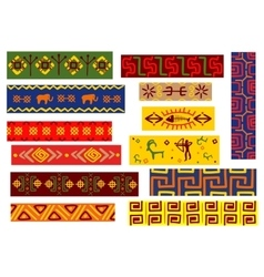 Ethnic african patterns with tribal ornaments vector