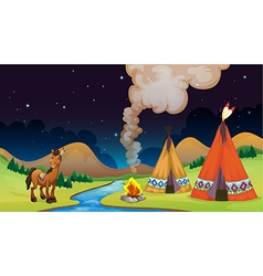 Overnight Camp vector image