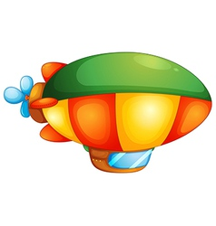 Blimp hot air balloon vector