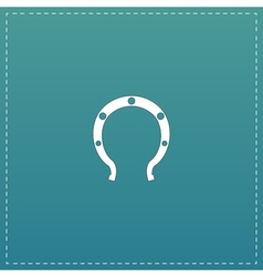 Horseshoe flat icon vector