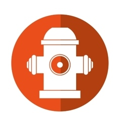 Red fire hydrant fire fighting orange circle vector