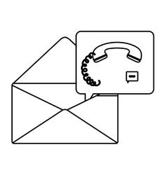 Isolated envelope of call center design vector