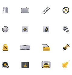 Car service icon set part 2 vector