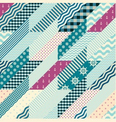 Hounds-tooth patchwork pattern vector