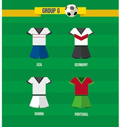 Brazil Soccer Championship 2014 Group G team vector image