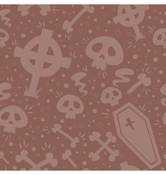 Creepy cartoon halloween seamless texture vector
