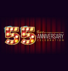 55 years anniversary banner fifty-five vector image