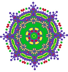 Hand-drawn colored mandala zentangl holi festival vector