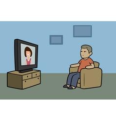TV watcher vector image