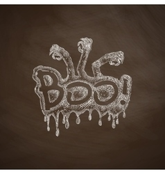 Boo icon vector