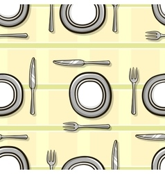 Tableware seamless pattern vector