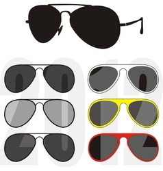 Sunglasses trendy collection vector