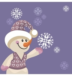 Snowman color 12 vector