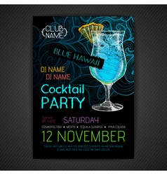 Disco cocktail party poster vector