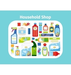 Household shop icon set vector