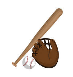 baseball sport isolated icon vector image vector image