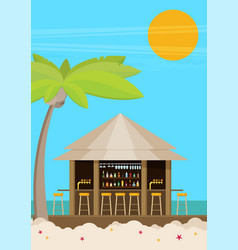 beach bar flat vector image