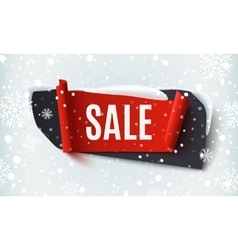 Black Friday Sale abstract banner on winter vector image vector image