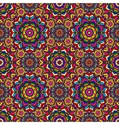 Bright circular geometric seamless kaleidoscope vector