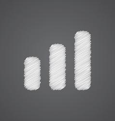 business diagram chart sketch logo doodle icon vector image vector image