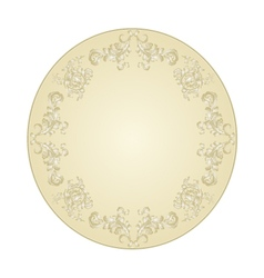 Button circular festive filigree ornaments vintage vector