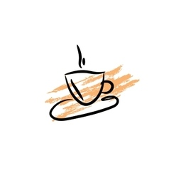 Coffee cup icon Silhouette of cofee cup on vector image vector image