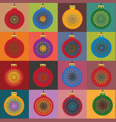 Color snowflakes in color background vector
