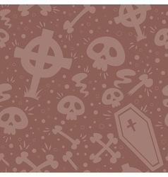 Creepy cartoon Halloween seamless texture vector image