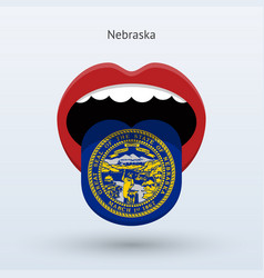 electoral vote of nebraska abstract mouth vector image