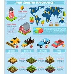 Farming facilities and equipment infographic vector