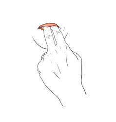 Finger whistle sign vector