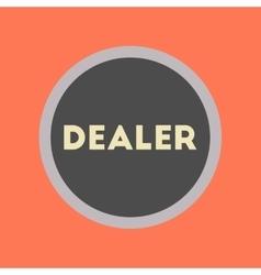 flat icon stylish background poker chip dealer vector image vector image