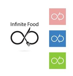Fork and knife logo elements design vector