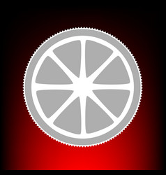 fruits lemon sign postage stamp or old photo vector image vector image