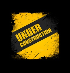 Grunge Under construction texture background vector image vector image