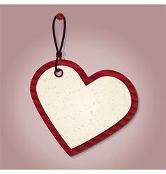 heart tag vector image vector image