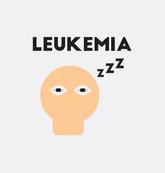 Insomnia various symptoms of leukemia vector