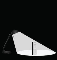 lamp open door vector image vector image